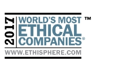 """""""World's Most Ethical Companies"""" and """"Ethisphere"""" names and marks are registered trademarks of Ethisphere LLC."""